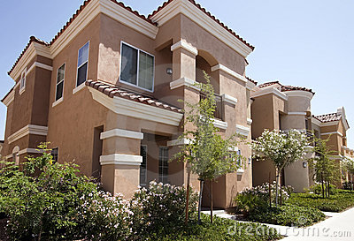 New Modern Homes In The Arizona Desert Stock Photo Image