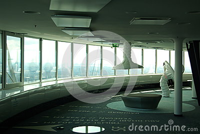 New Modern Interior of Tallinn TV Tower Editorial Image