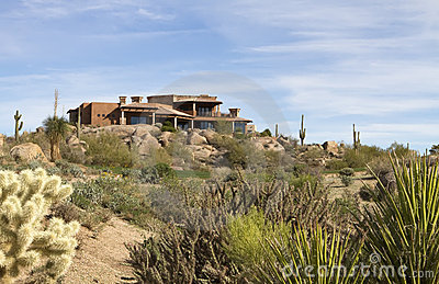New modern luxury desert golf course home