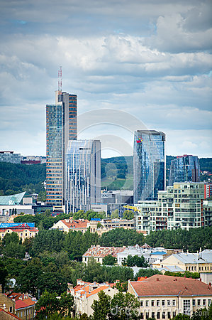 New modern skyscrapers in Vilnius Editorial Stock Image