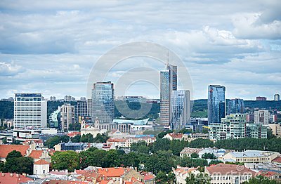 New modern skyscrapers in Vilnius Editorial Photography