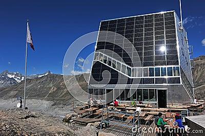 New Monte Rosa Hut Editorial Stock Image