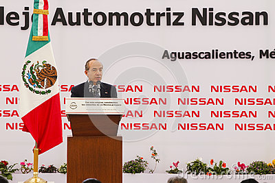 New Nissan car plant in Mexico Editorial Stock Photo