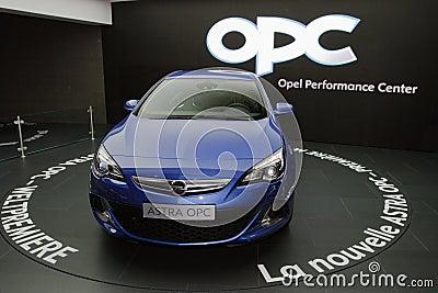 New Opel Astra OPC 2013 - Geneva Motor Show 2012 Editorial Photography