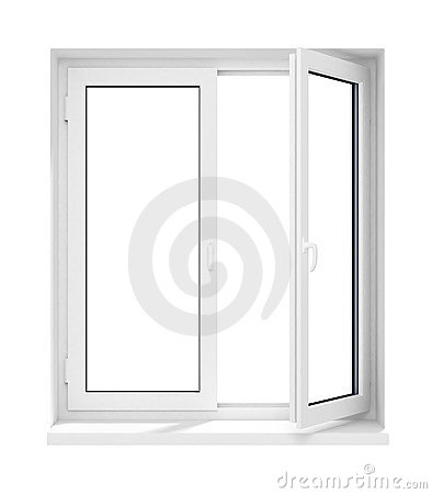 Free New Opened Plastic Glass Window Frame Isolated Royalty Free Stock Images - 4725439