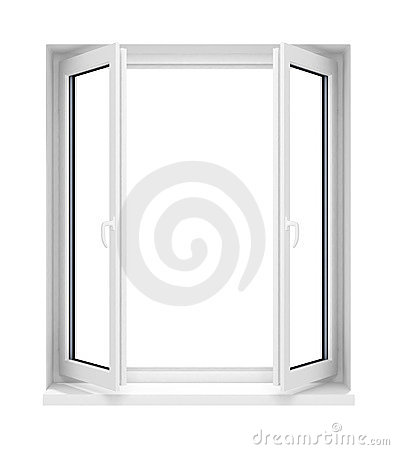 Free New Opened Plastic Glass Window Frame Isolated Royalty Free Stock Photography - 4725447