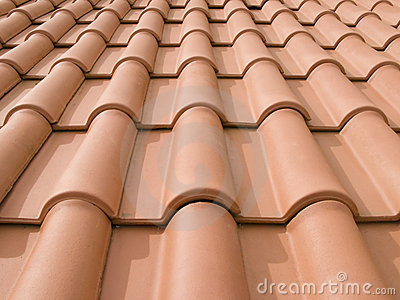New orange roof tiles