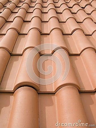 New orange roof tiles