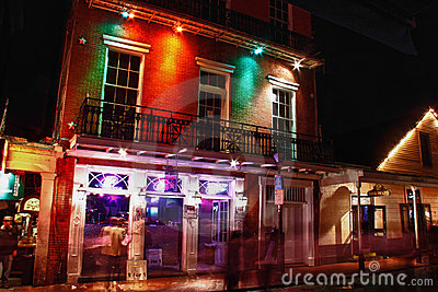 New Orleans Bourbon Street Voodoo Vibe Bar Editorial Photography