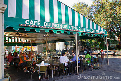 New Orleans Cafe Du Monde Editorial Stock Image