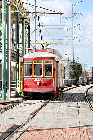 New Orleans Canal Street Car Editorial Photography