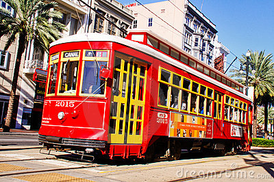 New Orleans Canal Street Street Car Editorial Stock Image