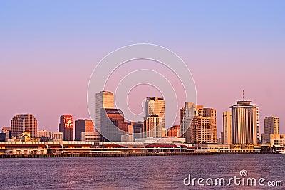 New Orleans Cityscape Sunrise