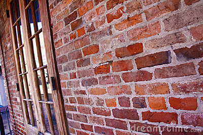 New Orleans French Quarter Brick Wall Editorial Stock Photo