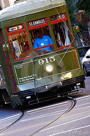 New Orleans Historic St. Charles Street Car Editorial Photo