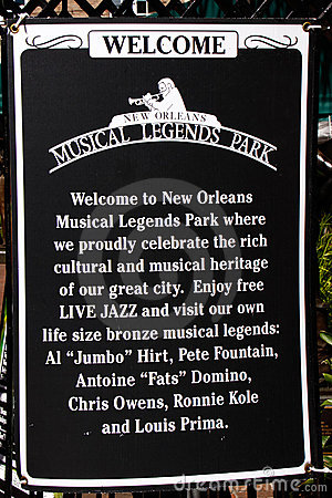 New Orleans - Musical Legends Park Editorial Photo