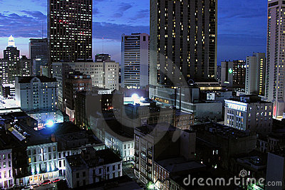New Orleans Night Editorial Stock Photo