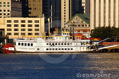 New Orleans Paddlewheeler Creole Queen Editorial Stock Image