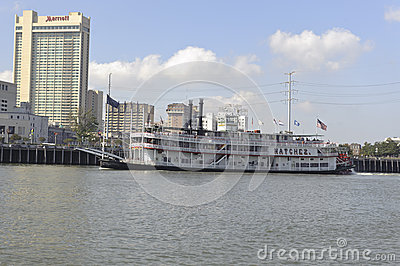 New Orleans river boat Editorial Stock Image