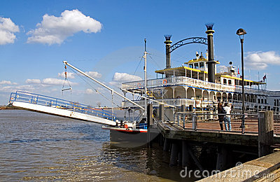 New Orleans river boat at dock