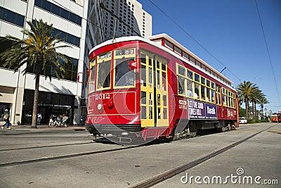 New Orleans spårvagn Redaktionell Arkivfoto