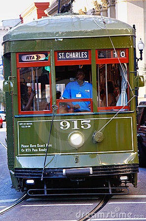New Orleans St. Charles Street Car Editorial Photography