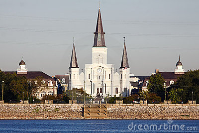 New Orleans St Louis Cathedral from the Water