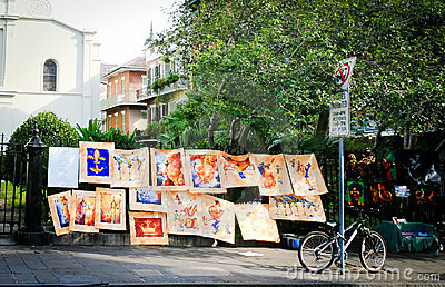 New Orleans Street Art Vendors Editorial Photo
