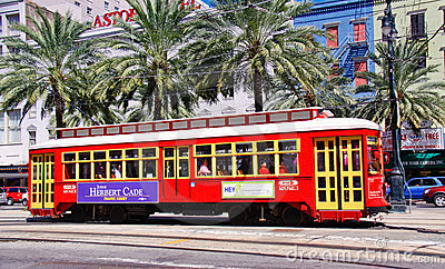 New Orleans Street Car Historic Canal Street Editorial Photography