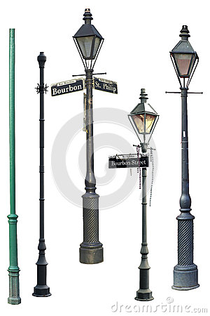 New Orleans Street Light Collection Stock Photo Image