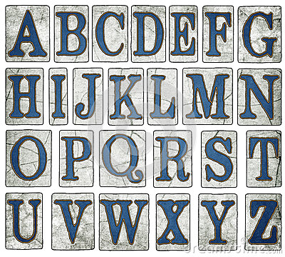Free New Orleans Street Tiles Digital Alphabet Stock Image - 44197041