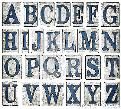 New Orleans Street Tiles Digital Alphabet Stock Photo