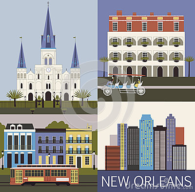 Free New Orleans. Vector Royalty Free Stock Photos - 32388018