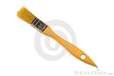 New paint brush isolated on white background