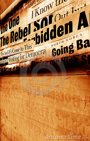Free New Paper Headlines With Old Paper Stock Photo - 5522650