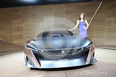 The new Peugeot in Istanbul Autoshow Editorial Photo
