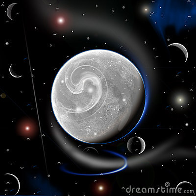 Free New Planet Moon And More...... Royalty Free Stock Images - 7306309