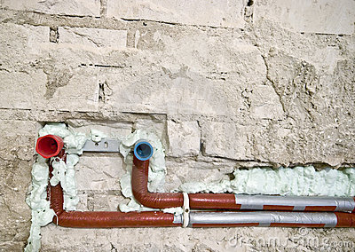 New plumbing in a wall