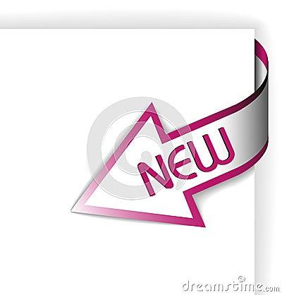 New purple corner ribbon