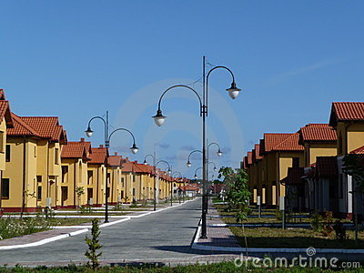 New residential area.