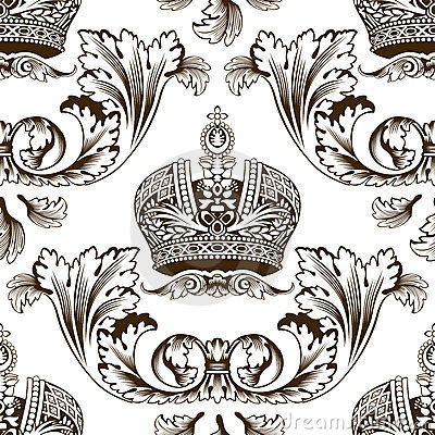 Free New Seamless Decor Imperial Ornament Royalty Free Stock Images - 10834539