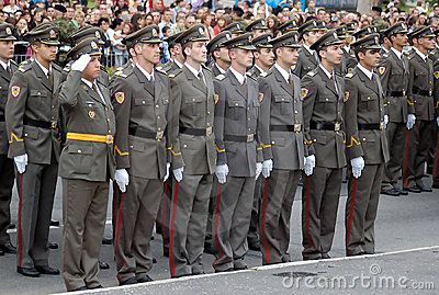 New Serbian officers-1 Editorial Stock Image