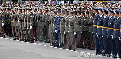 New Serbian officers on parade Editorial Stock Photo