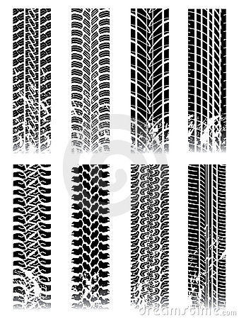 Free New Set Of Tire Tracks Stock Images - 13132904
