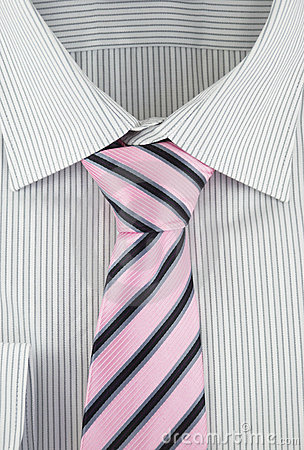 Free New Shirt With Striped Silk Necktie Stock Images - 18295824