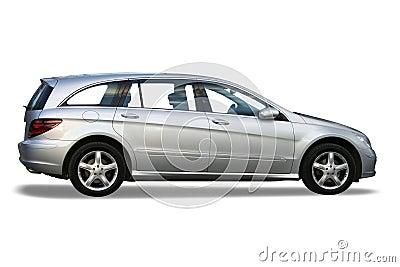 New silver car