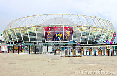 The New soccer stadium  Editorial Stock Photo