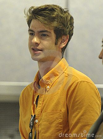 New Spiderman actor Andrew Garfield at LAX Editorial Stock Image