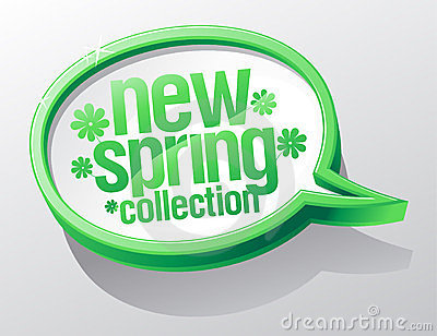 New spring collection speech bubble.