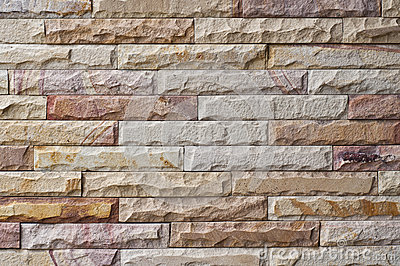 New stone brick wall.